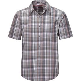 Marmot Lykken Shirt Korte Mouwen Heren, grijs
